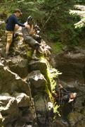 Cameraman on rope