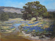 """""""Springtime in the Hill Country"""" 30x40"""" acrylic"""
