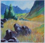 French Alps - 6x6in color study 3 of 3
