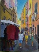 "Street Scene 022215 9x12"" acrylic on canvas board"