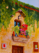 Balcony WS48 8x10in Acrylic on Paper 102115,