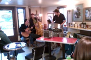 Jamming with Django cats on Whidbey Island