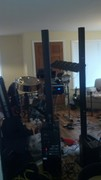 Chaos in the living room testing and packing for tour
