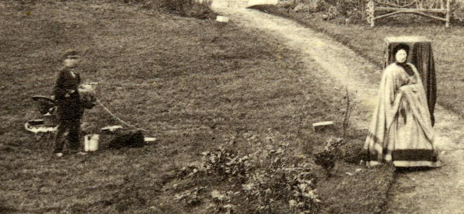 Curbar Lunatic Asylum, Buxton (detail with dark tent)