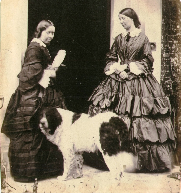 Jane Martha St. John and sister-in-law Julia, c. 1860