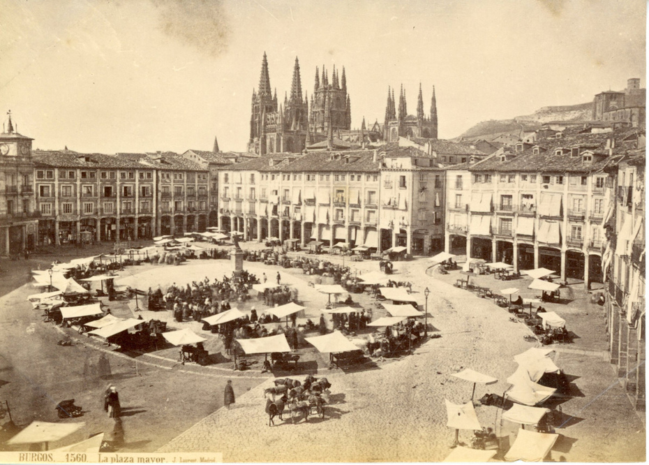 Burgos 1560 La plaza mayor. Jean Laurent