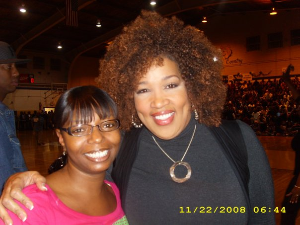 Kym Whitly and Latiaa at Fisk Univeristy Homecoming Basketball Game 2008