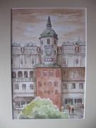 Zamek Książąt Pomorskich w Szczecinie-widok na skrzydło południowe.