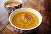 sopa de zapallo, curry y coco