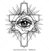 stock-vector-rosicrucianism-symbol-blackwork-tattoo-flash-all-seeing-eye-cristian-cross-with-rose-flower-489562144