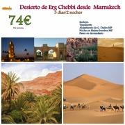 Viajes de Marrakech a Merzouga
