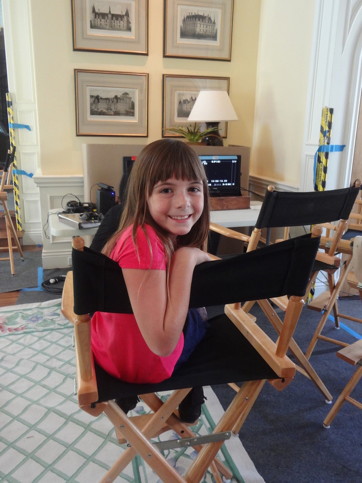 """Hannah Stock on the set of """"Off Their Rockers"""""""