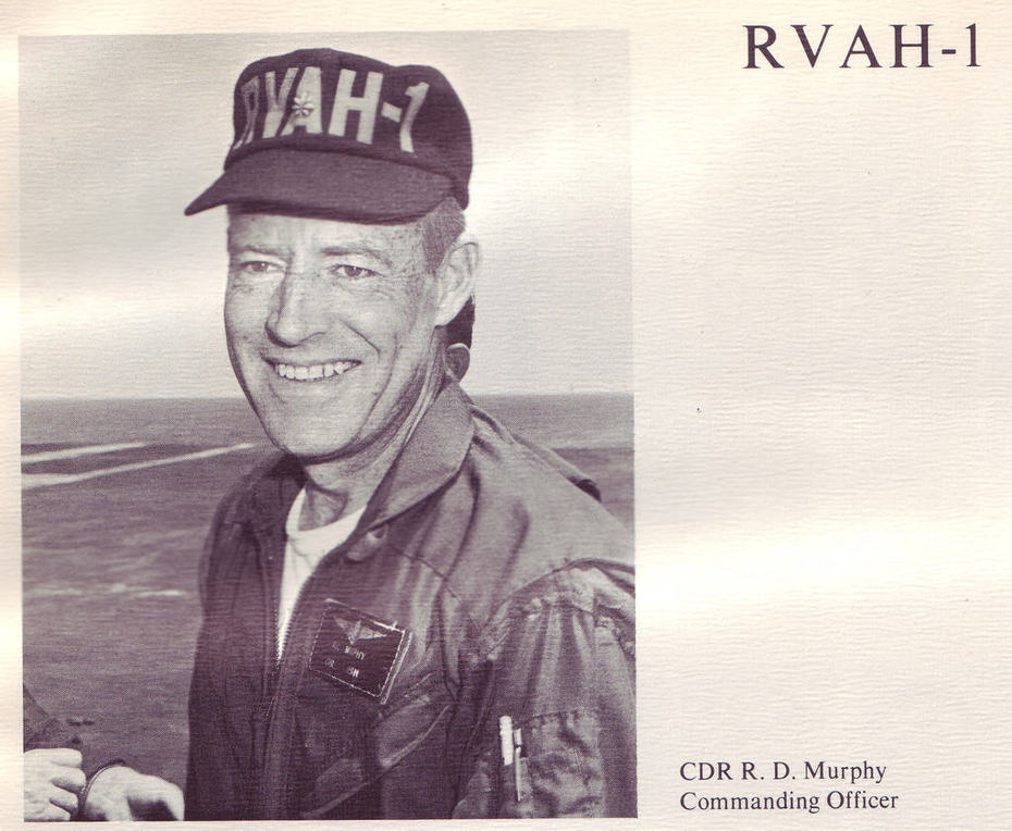 CDR Ray D Murphy, CO, RVAH1 1968