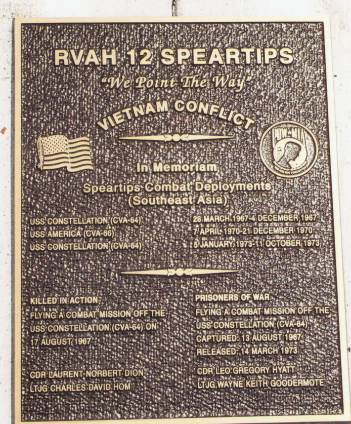 Heavy 12 Memorial Plaque