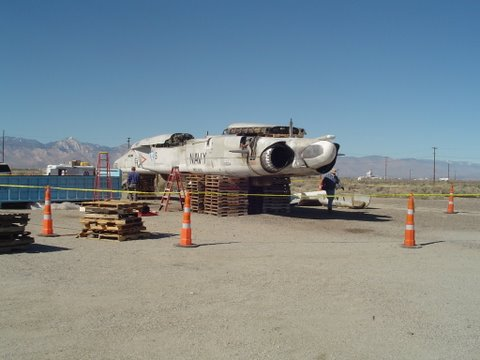 7Fuselage ready for loading China Lake