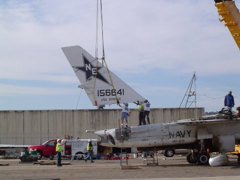 14Tail Lifted into place at North Island