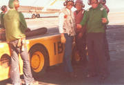 Bill Redcay and Ron (James R) Allen on hanger roof KW