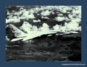 Heavy 13 in flite over Fla. prtor to shipping out to the Kitty Hawk,..1965.