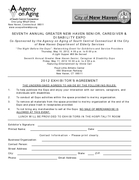 Forms for the Seventh Annual Greater New Haven Senior, Caregiver & Disability Expo