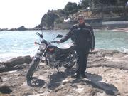"""con mi moto en """"El portet"""""""