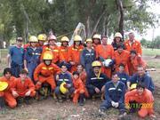 todo el cuerpo de bomberos y aspirantes