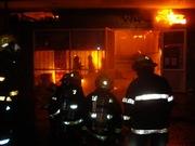 Incendio destruyó el gimnasio del barrio Las Animas.