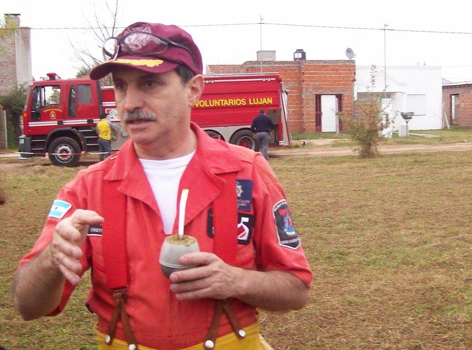 Gerardo Crespo en la Escuela Internacional de Incendios / Lujan / 2010 / E.F.O.C.I.R.
