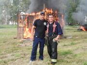 Practica de incendio en Peres Millan 05/03/2011