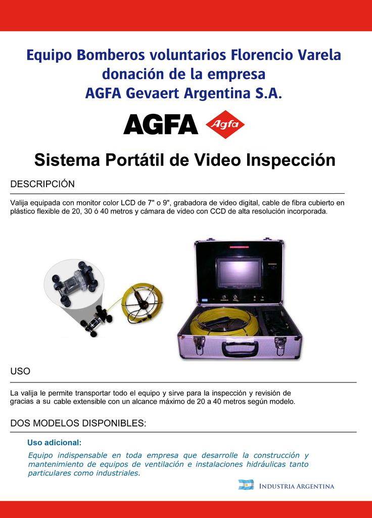 PRIMER ENCUENTRO DE LA HERMANDAD DE BOMBEROS / EQUIPO DE RESCATE DE ULTIMA TECNOLOGIA / Sistema portatil de videoinspeccion