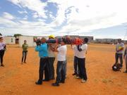 Impartiendo capacitación a la Brigada de Primeros Auxilios