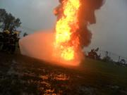practica de incendio de liquidos inflamables