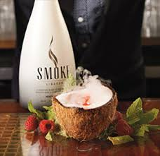 smoke vodka with coconut