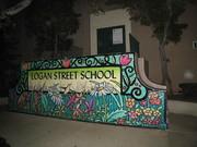 Logan Street School mural in Echo Park