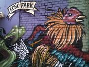 Chango's Coffee Shop mural in Echo Park