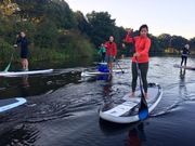 Sunrise sup in Naarden Vesting