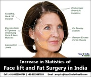 Increase in Statistics of Face lift and Fat Surgery in India