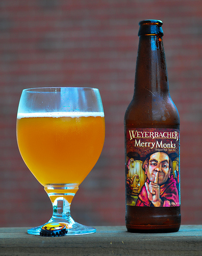Merry Monks is a Tripel style beer brewed by Weyerbacher Brewing Co.