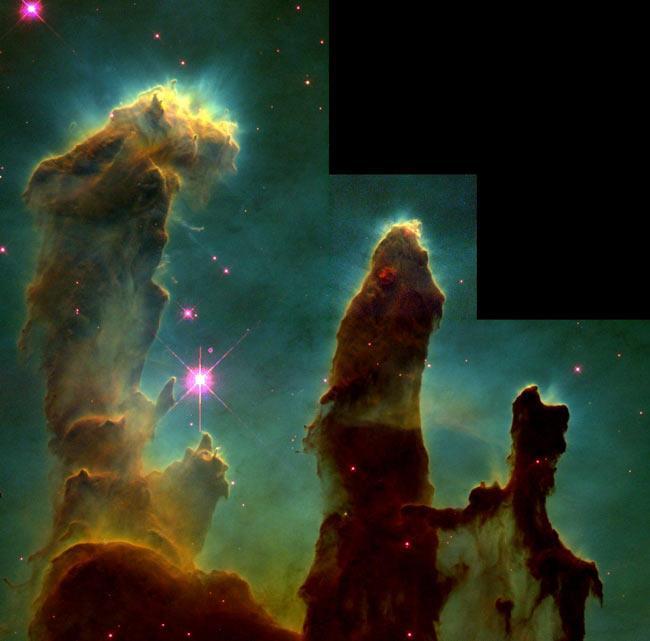 Pillars of Creation in the Eagle Nebula