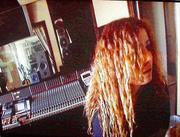 zoe in the studio