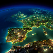 The Lights Of Europe At Night