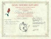 Goju-Shorei Certificate