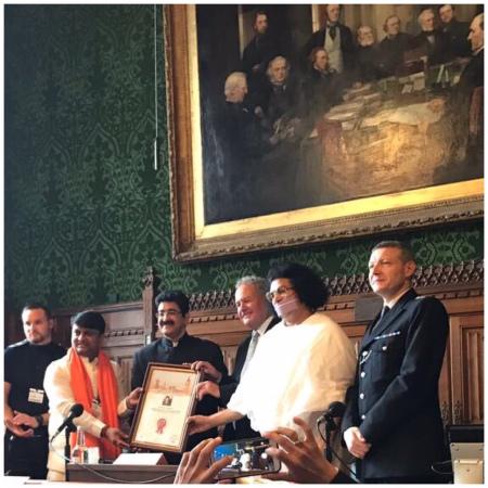 Sandeep Marwah Honored in British Parliament