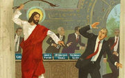 Jesus Horsewhips the Bankers