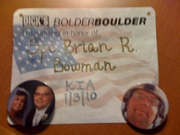 BolderBoulder - In Memory of Brian