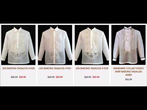 Online Store For Men's Barongs Tagalog
