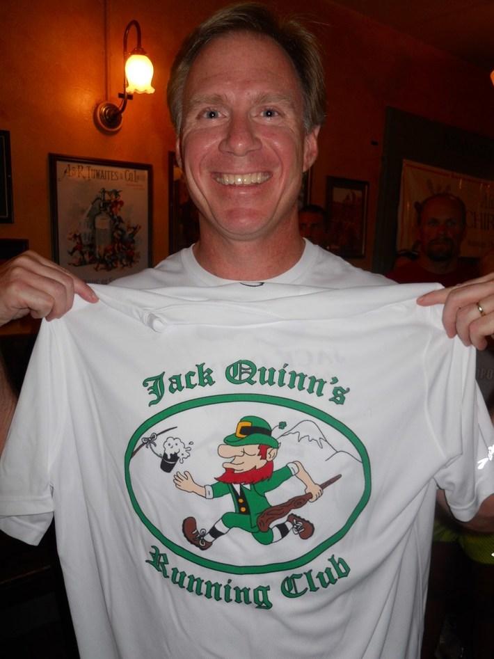 Jack Quinn's runners dodge the rain; 37 earn 10-run shirts