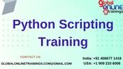 Python scripting training   Python scripting online certification course