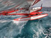 Zenith float flying in Greece