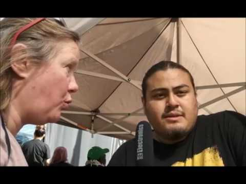 Interview Nataanii Means @ Trump not welcome march