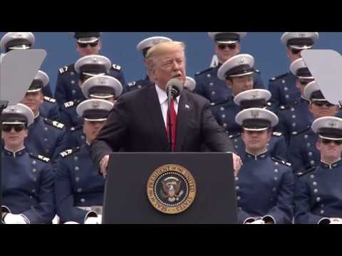 President Trump addresses the USAFA graduating class of 2019